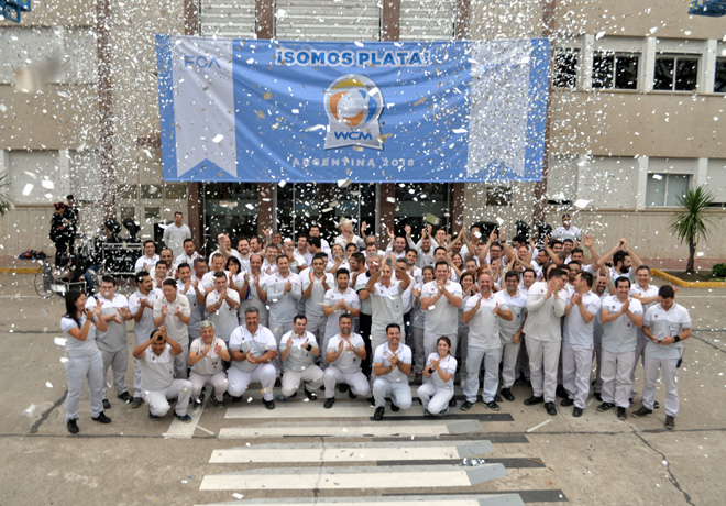 La planta de vehiculos de FCA en Argentina logro el nivel Plata en WCM