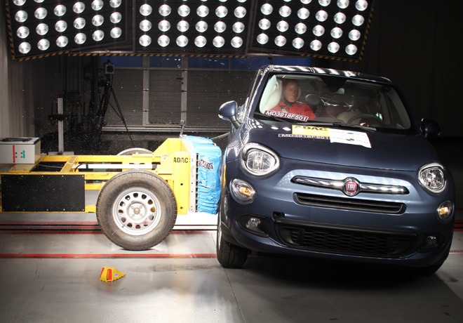 Maxima puntuacion para el Fiat 500X en las pruebas de Latin NCAP