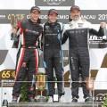 WTCR - Macao 2018 - Carrera 2 - Yann Ehrlacher - Frederic Vervisch - Yvan Muller en el Podio