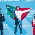 Formula E - Ad Diriyah - Arabia Saudita 2018 - Carrera - Jean-Eric Vergne - Antonio Felix da Costa - Jerome DAmbrosio en el Podio