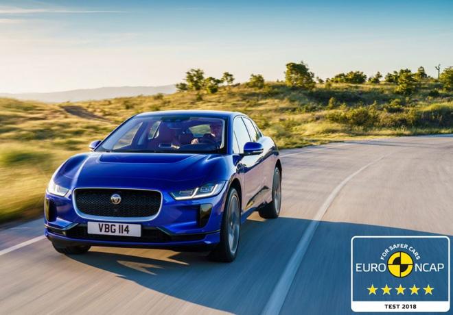 Jaguar I-Pace conquista cinco estrellas en las pruebas de seguridad de Euro NCAP.