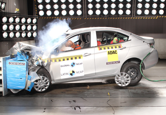 Latin NCAP - Chevrolet New Aveo - con 2 Airbags