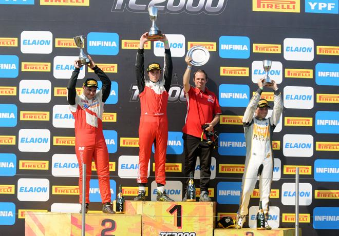 TC2000 - Parana 2018 - Carrera Sprint - Braian Reinoso - Hernan Palazzo - Sebastian Peluso en el Podio