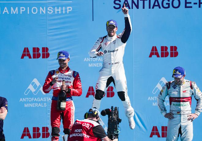 Formula E - Santiago de Chile - Chile 2019 - Carrera - Pascal Wehrlein - Sam Bird - Daniel Abt en el Podio