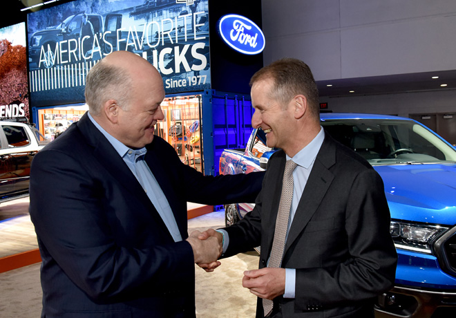 Jim Hackett - Ford y Herbert Diess - VW