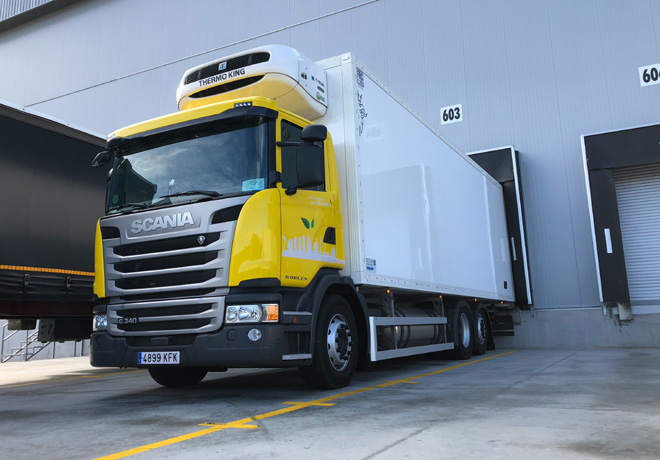 Un Scania a GNL en el exigente trafico de Barcelona 1