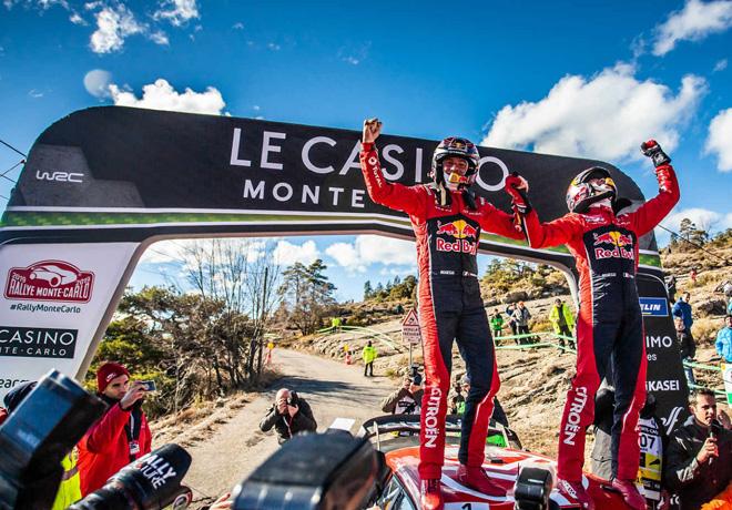 WRC - Monaco 2019 - Final - Sebastien Ogier en el Podio