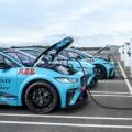 Cargadores rapidos ABB en la Jaguar I-Pace eTrophy
