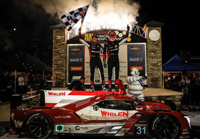 12 hs de Sebring - Felipe Nasr - Pipo Derani - Eric Curran en el Victory Lane