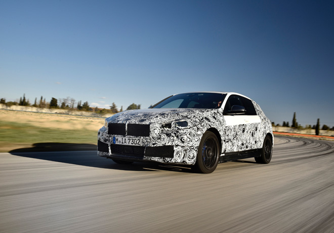 BMW Serie 1 - fase final de pruebas en Miramas