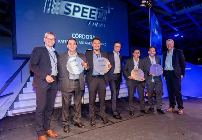 El Centro Industrial Cordoba de VW Group Argentina recibio una distincion en el marco del SPEED plus Award