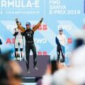 Formula E - Sanya - China 2019 - Carrera - Antonio Felix da Costa - Jean-Eric Vergne - Oliver Rowland en el Podio