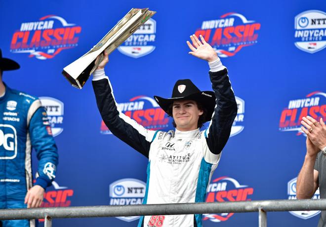 IndyCar - COTA 2019 - Carrera - Colton Herta en el Podio