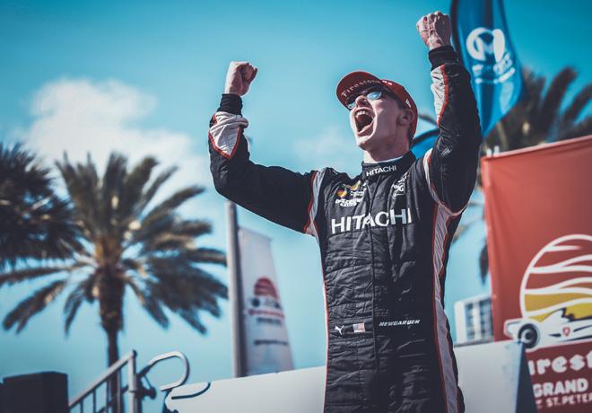 IndyCar - St Petersburg 2019 - Carrera - Josef Newgarden en el Podio