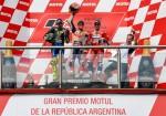 MotoGP - Termas de Rio Hondo 2019 - Valentino Rossi - Marc Marquez - Andrea Dovizioso en el Podio