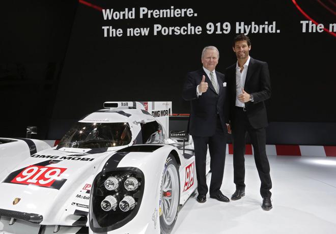 Porsche - Ginebra 2014 - regreso al mas alto nivel de la competición con el Porsche 919 Hybrid LMP1 del WEC