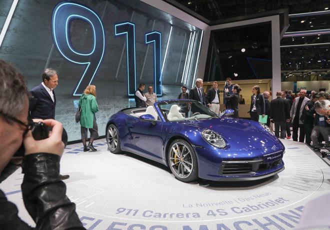 Salon de Ginebra 2019 - presentacion del nuevo Porsche 911 Carrera Cabriolet
