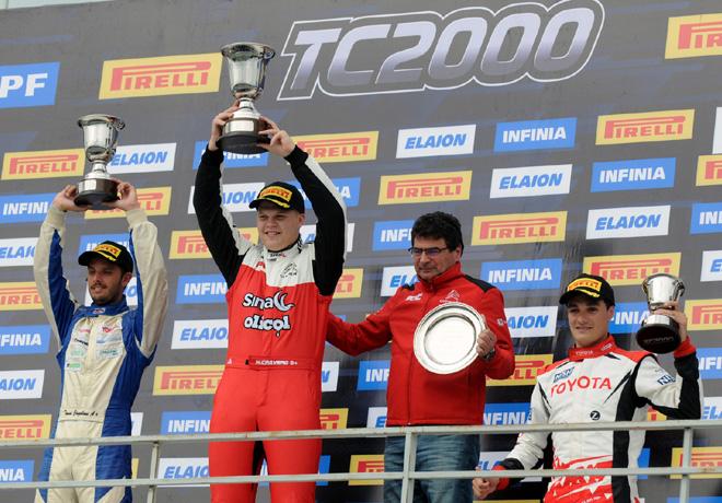 TC2000 - Alta Gracia - Cordoba 2019 - Carrera Sprint - Tomas Cingolani - Matias Cravero - Ignacio Julian en el Podio