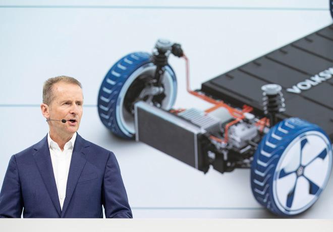 VW planea producir 22 millones de vehiculos electricos en diez anois