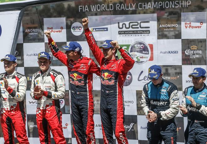 WRC - Mexico 2019 - Final - Sebastien Ogier en lo mas alto del Podio