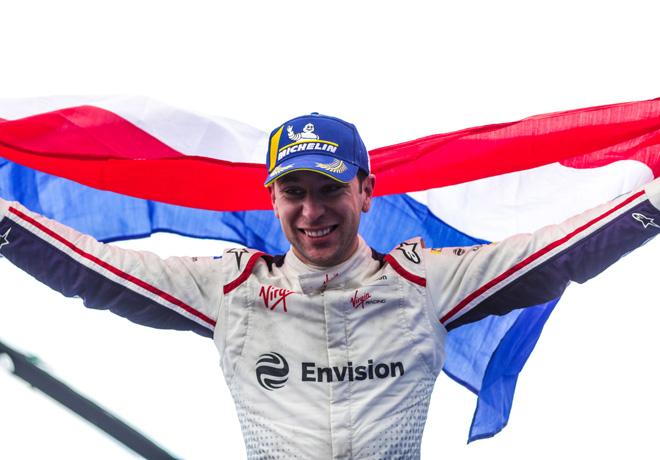 Formula E - Paris - Francia 2019 - Carrera - Robin Frijns en el Podio