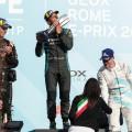 Formula E - Roma - Italia 2019 - Carrera - Andre Lotterer - Mitch Evans - Stoffel Vandoorne en el Podio