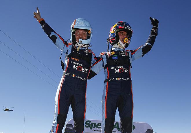 WRC - Argentina 2019 - Final - Nicolas Gilsoul - Thierry Neuville en el Podio