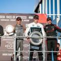 WTCR - Marrakech - Marruecos 2019 - Carrera 3 - Mikel Azcona - Thed Bjork - Frederic Vervisch en el Podio