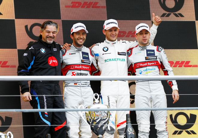 DTM - Hockenheim 2019 - Carrera 1 - Mike Rockenfeller - Marco Wittmann - Robin Frijns en el Podio