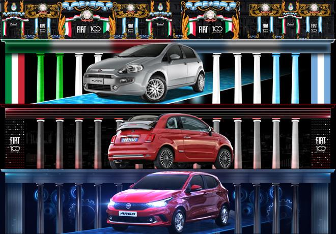 Fiat celebra sus 100 anios en Argentina con la proyeccion de imagenes en edificios emblematicos 2