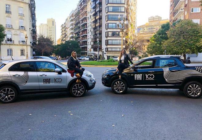 Fiat participo en la inauguracion del Paseo del bajo 2