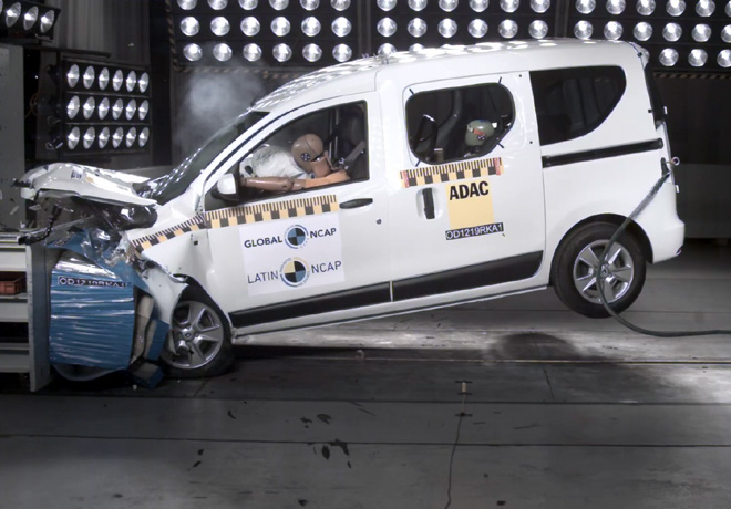 Latin NCAP - Renault Kangoo - con 2 Airbags