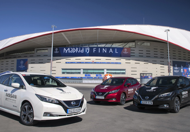 Nissan LEAF electrifica la final de la UEFA Champions League 2019