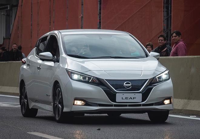 Nissan LEAF en el Paseo del Bajo 2