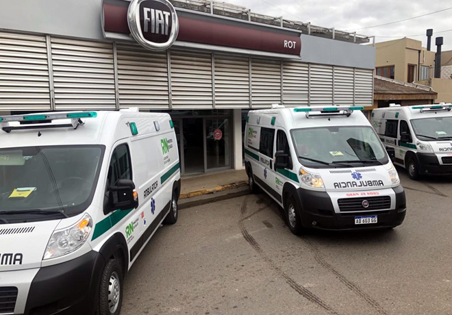 Rio Negro compro 32 Fiat Ducato Ambulancias para equipar sus hospitales 1