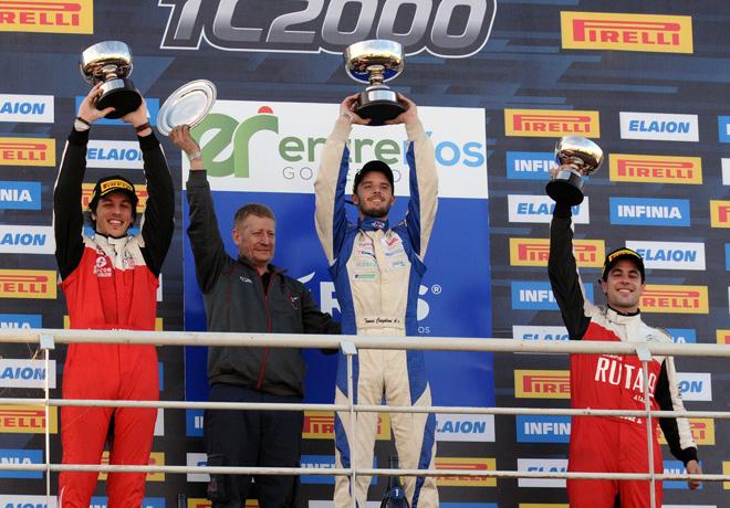 TC2000 - Concepcion del Uruguay - Entre Rios 2019 - Carrera Sprint - Jose Manuel Sapag - Tomas Cingolani - Juan Jose Garriz en el Podio