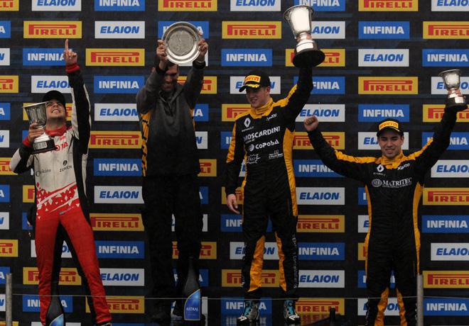 TC2000 - Rio Cuarto 2019 - Carrera Final - Sebastian Peluso - Nicolas Moscardini - Gabriel Gandulia en el Podio