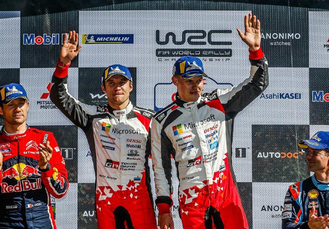 WRC - Chile 2019 - Fina - Sebastien Ogier - Ott Tanak - Sebastien Loeb en el Podio