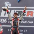 WTCR - Zandvoort - Holanda 2019 - Carrera 2 - Benjamin Leuchter - Esteban Guerrieri - Johan Kristoffersson en el Podio