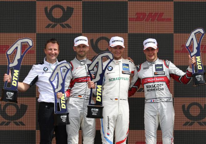 DTM - Misano 2019 - Carrera 1 - Rene Rast - Marco Wittmann - Loic Duval en el Podio