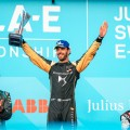 Formula E - Berna - Suiza 2019 - Mitch Evans - Jean-Eric Vergne - Sebastien Buemi en el Podio
