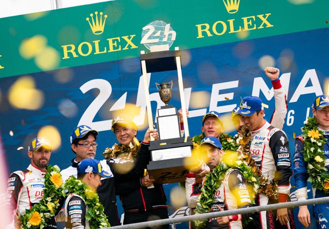 WEC - 24 hs de Le Mans 2019 - El equipo Toyota Gazoo Racing a pleno en el Podio