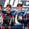 WTCR - Nurburgring - Alemania 2019 - Carrera 1 - Esteban Guerrieri - Norbert Michelisz - Nestor Girolami en el Podio