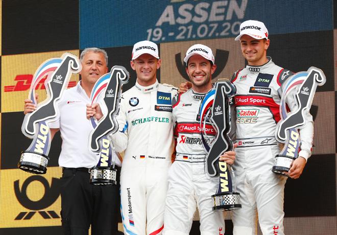 DTM - Assen 2019 - Carrera 2 - Marco Wittmann - Mike Rockenfeller - Nico Muller en el Podio