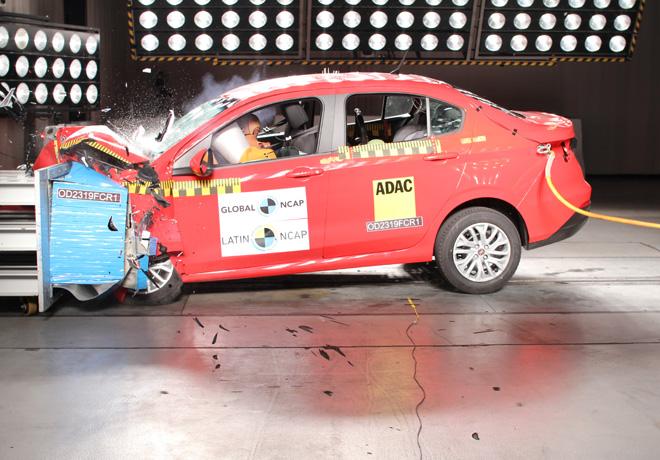 Latin NCAP - Fiat Cronos - con 2 Airbags