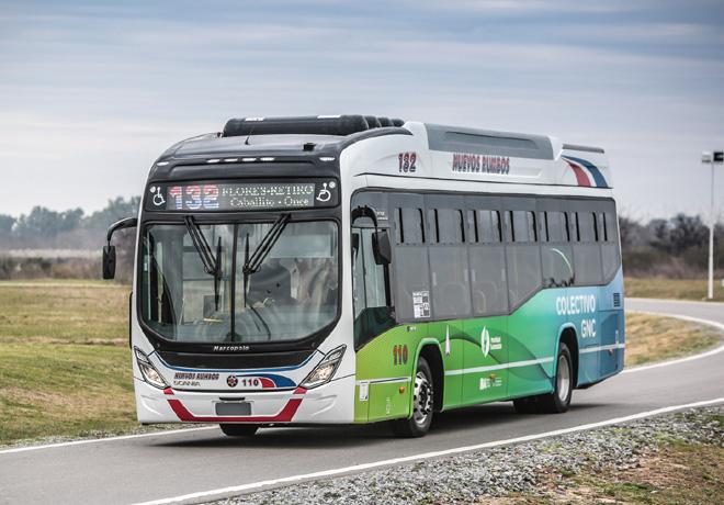 Scania presenta su primer bus a GNC para transporte urbano