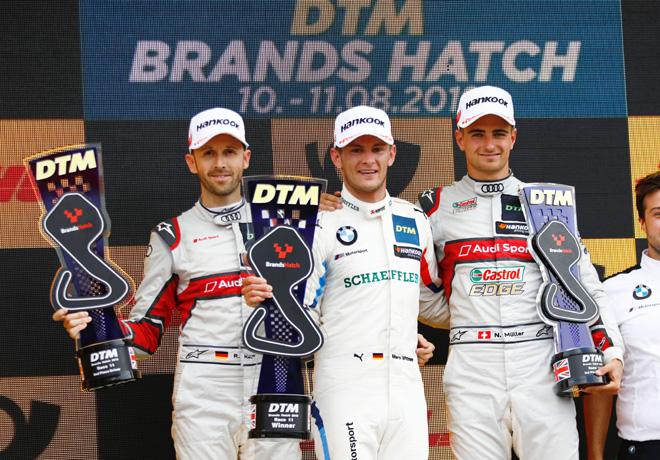 DTM - Brands Hatch 2019 - Carrera 1 - Rene Rast - Marco Wittmann - Nico Muller en el Podio