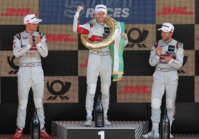 DTM - Lausitzring 2019 - Carrera 2 - Nico Muller - Rene Rast - Mike Rockenfeller en el Podio