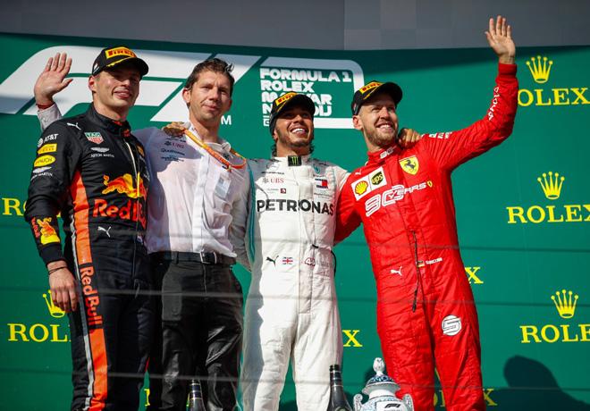 F1 - Hungria 2019 - Carrera - Max Verstappen - Lewis Hamilton - Sebastian Vettel en el Podio