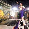 NASCAR - Bristol 2019 - Denny Hamlin en el Victory Lane